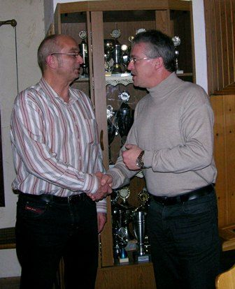 Bürgermeister Gleim und der 1. Vorsitzende Reiner Möbus