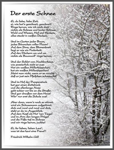 Gedicht schnee baum