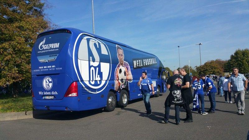 Stimmungsbild Schalke Bus