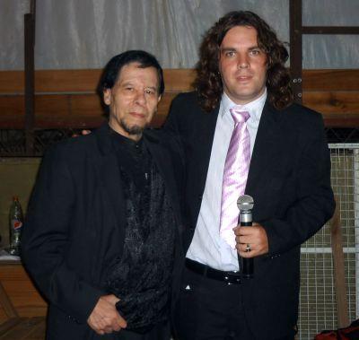 Con Aldo Monges, El Trovador romantico de America