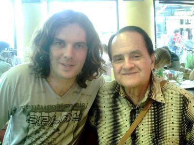 Rolando con Heli Toro Alvarez, director y creador del CUARTETO IMPERIAL de Colombia