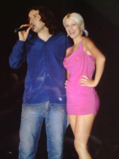 Aqui en Expo Biela con Jennifer Cabrera-Chica Playboy