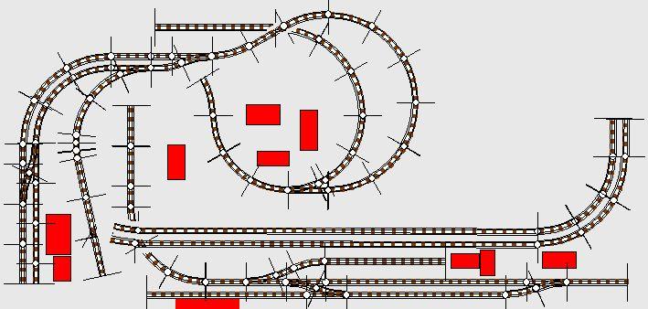Sichtbare Gleisanlagen
