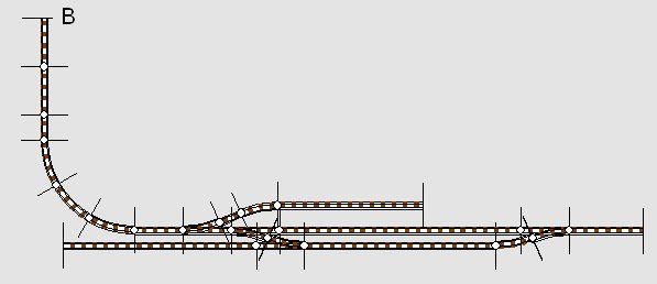 Gleisplan des Bahnhofs