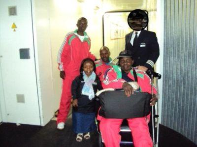Abbildung 3: Die TT-Nationalmannschaft Kenia Behindertensport