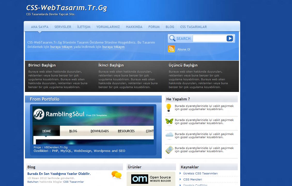 RS18 Tasarımı - CSS-WebTasarim.Tr.Gg