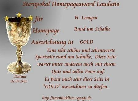 Sternpokal-Auszeichnung in Gold