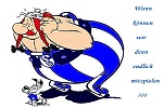 Obelix und Idefix warten auf ihren Schalke-Einsatz