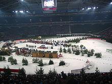 Veltins Arena, hergerichtet für Biathlon