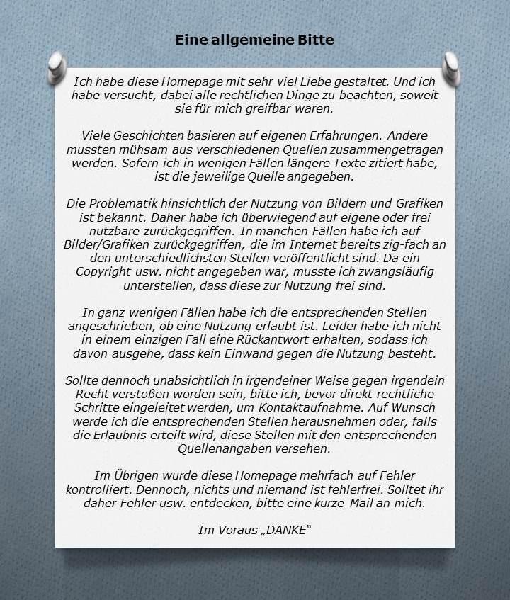 """Pinwand mit Text """"Eine allgemeine Bitte"""""""
