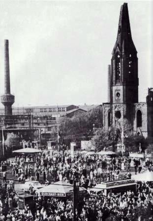 Meisterschaftsfeier Schalker markt 1958