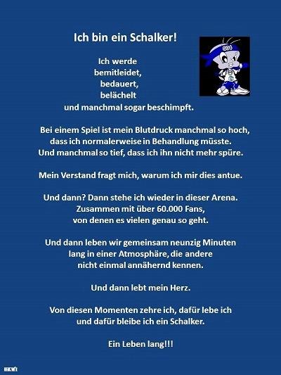 Simple Ich Bin Ein Schalker Schalke Emotionen With Ein Leben Lang Schalke.