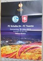 Wandposter vom Spiel Schalke gegen Enschede