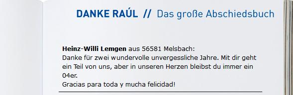 Abschieds-Geschenkbuch für Raul