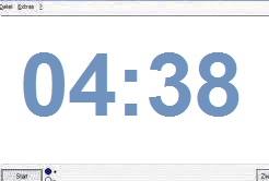 Digitaluhr Anzeige 4 Minuten 38 Sekunden