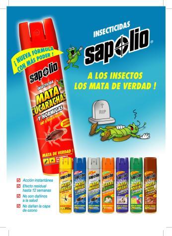 Sapolio productos insecticidas for Casa del insecticida