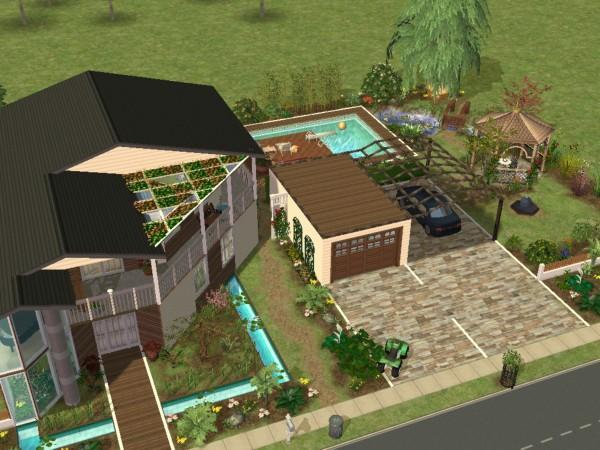 Sims2 modernes einraumhaus for Modernes haus sims 2