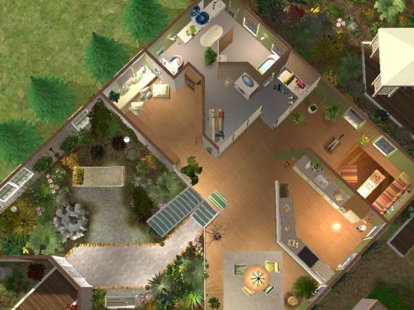 Sims2 Modernes Einraumhaus
