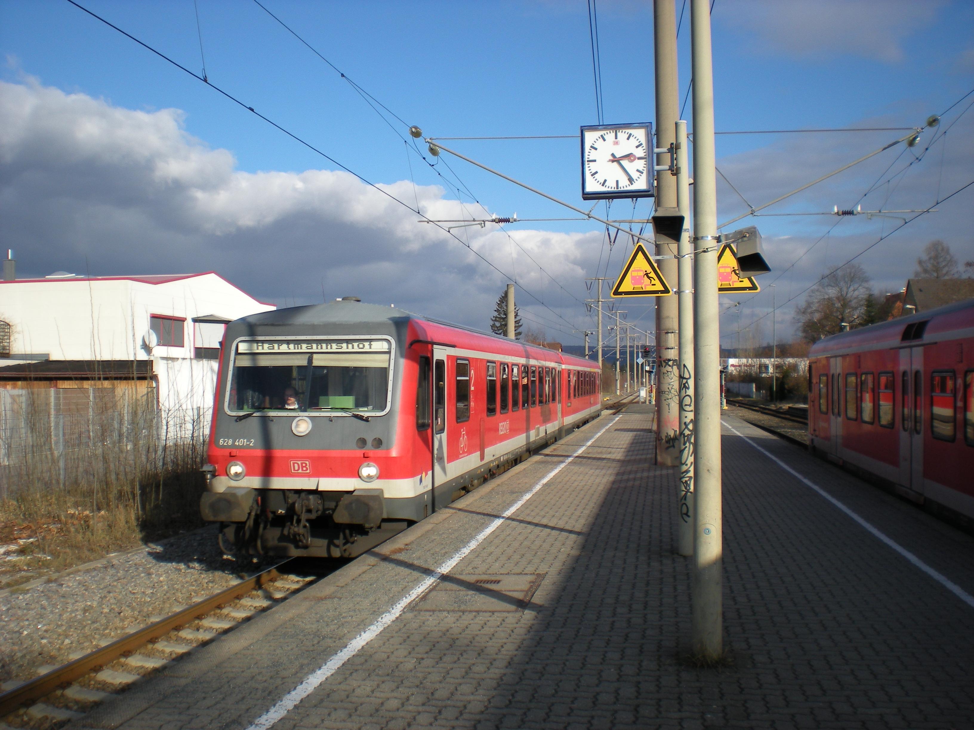 In: Lauf(links Pegnitz); Richtung: Hartmannshof (Nach ändern der Fahrtrichtung)