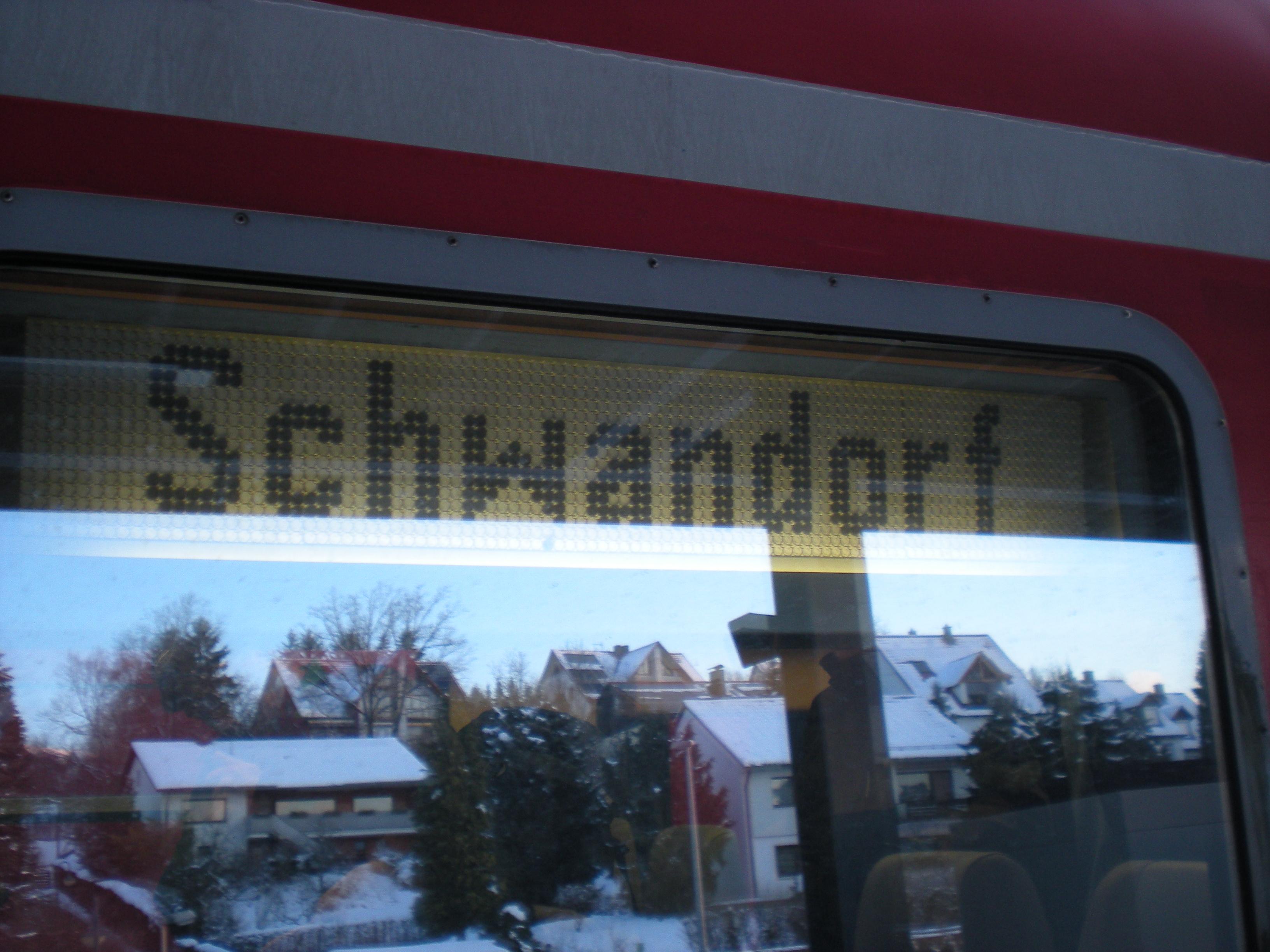 Zielanzeige 614: Schwandorf [RE]
