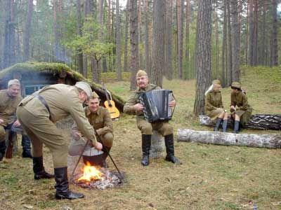 65-летие освобождения от фашистких захватчиков Щорского района - Костёр