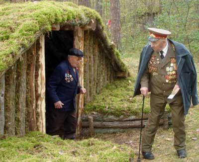 65-летие освобождения от фашистких захватчиков Щорского района - Землянка