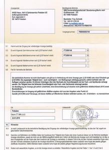 Genehmigung gemäß § 53 KrWG zum Sammeln und befördern von Abfällen