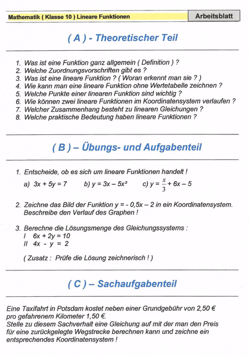 Informationen zur Schularbeit - Mathe 11
