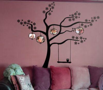 Fantasy deco vinilos decorativos arbol familiar de fotos - Vinilos de arboles para paredes ...