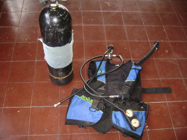 Equipo Botella Respiración Aire Comprimido