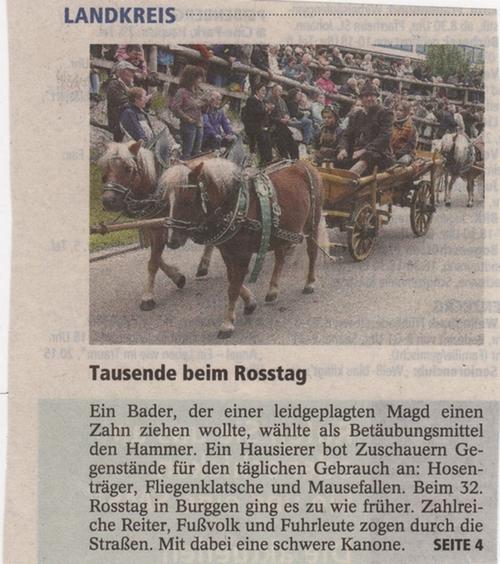Der Shetty-Züchter Rudolf Friedel aus Königsbrunn mit seinem Shetty-Gespann auf dem Roßtag in Burggen