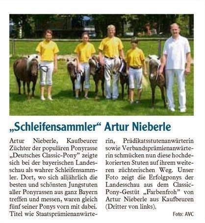 Artur Nieberle mit seinen Ponys auf der Landesschau 2007 in München-Riem