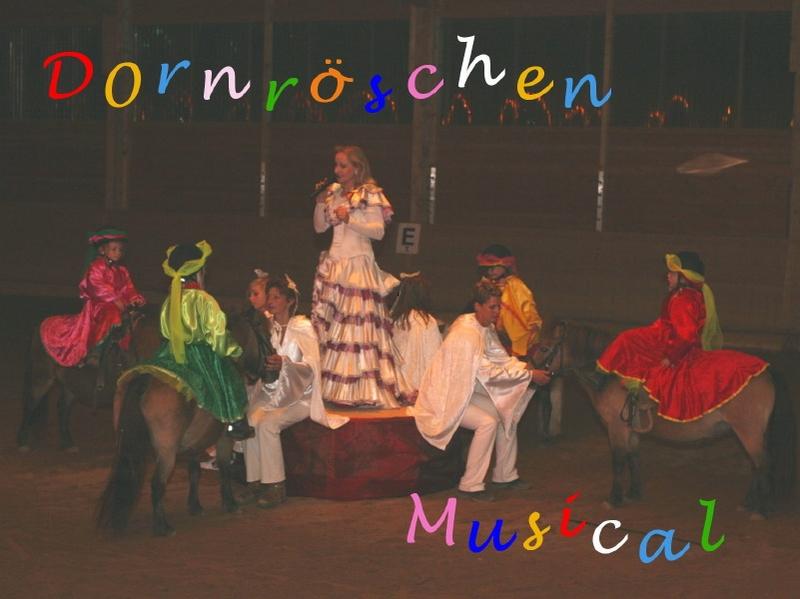 Das Pony- und Pferdemusical Dornröschen wurde als Höhepunkt beim 2. Süddeutschen Shettytag in Gennachhausen aufgeführt.