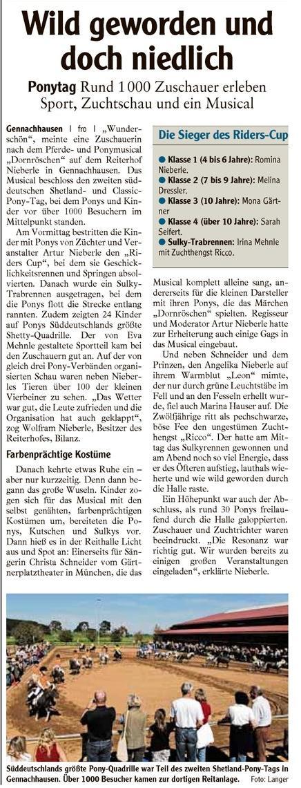 Der 2. Süddeutsche Shettytag wurde zu einem großen Erfolg.