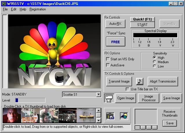 - SSTV RTTY software