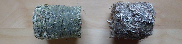 Wiesenheu-Rundling und Apfel-Rundling im Vergleich