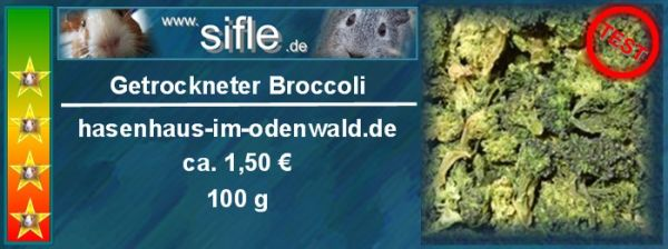 Getrockneter Broccoli