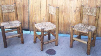 Sillas rusticas de campo fotos for Mesas y sillas rusticas