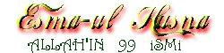 esma-ül hüsna - www.silsile.tr.gg Allah'ın 99 lafzı