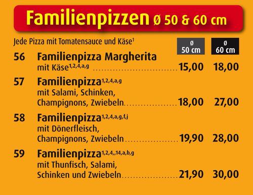Familienpizza Für Wieviel Personen