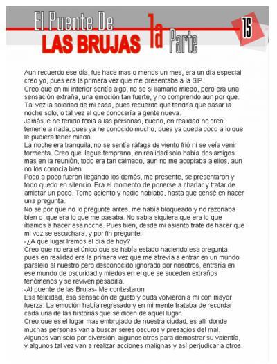 Relato de Mision: El Puente De Las Brujas