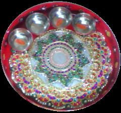 Kundan Designed Puja Thali
