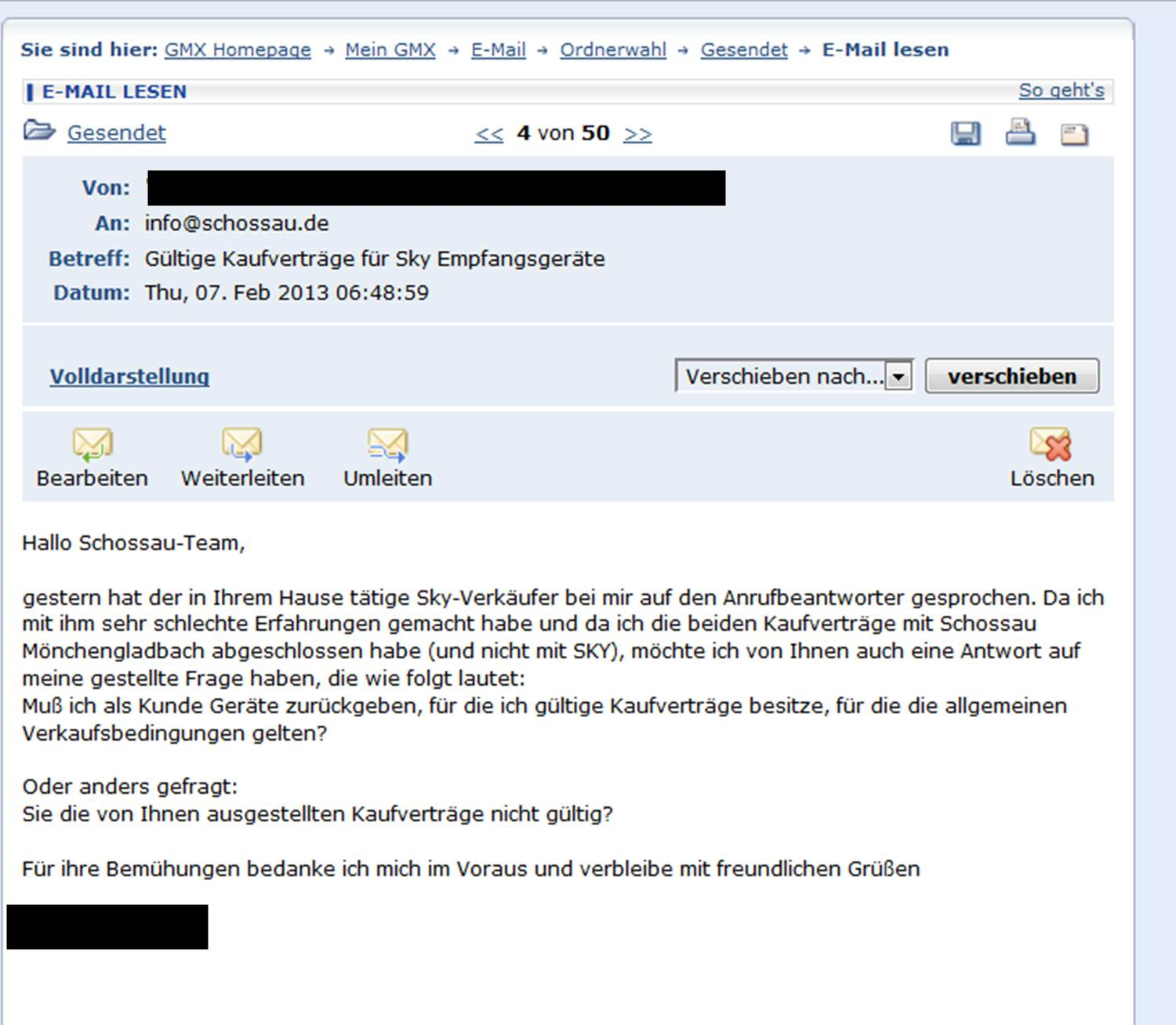 Kunden Email