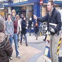 predicando en la calle