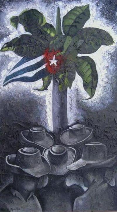 El regreso, Mixta sobre Cartulina,100x80cm. Serie De Cuba Soy