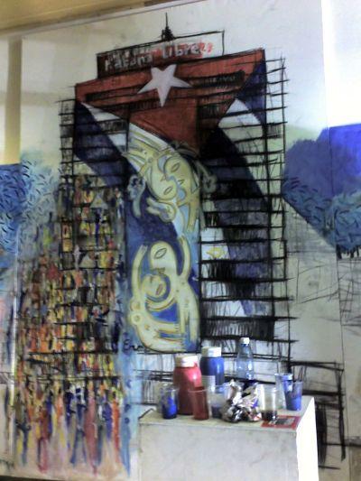 Mural Habana Libre proyecto Somos lo que hay