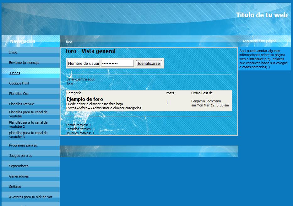 Videos Tutoriales, Diseño web, Códigos HTML, Descargas, Música y ...