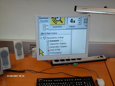 Zoomtext in Aktion