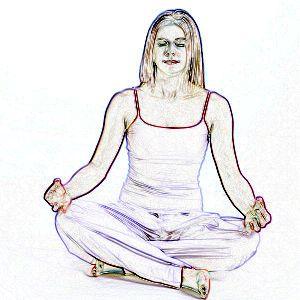 Joga - pozycja półlotosu