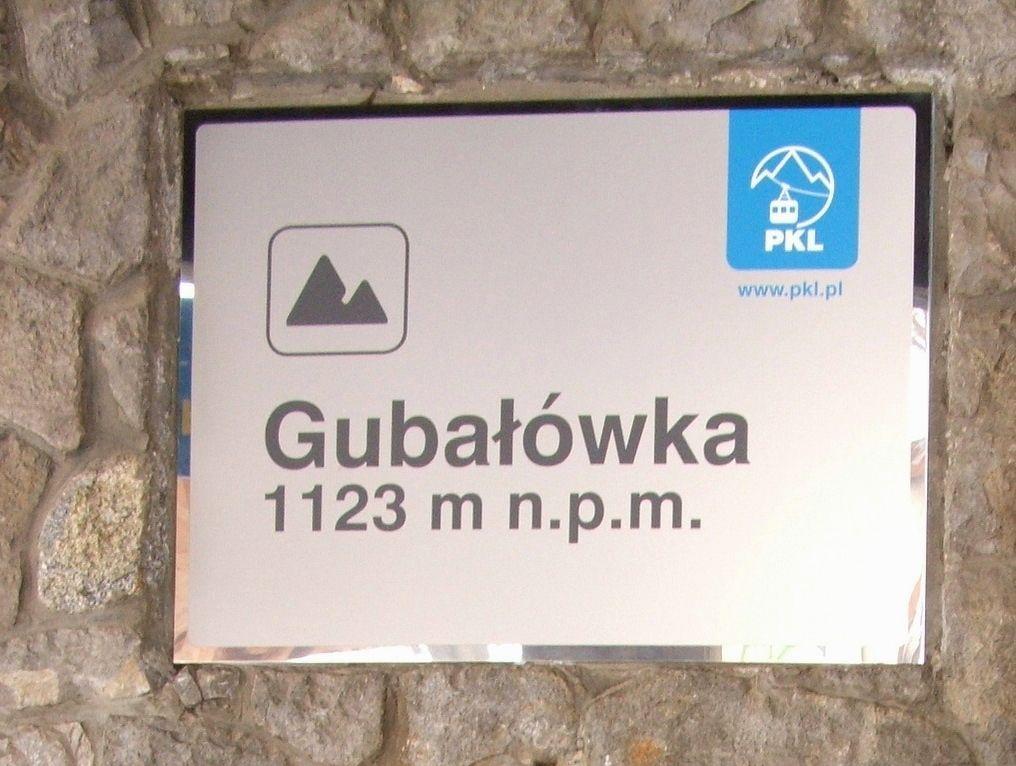 Gubałówka - tablica